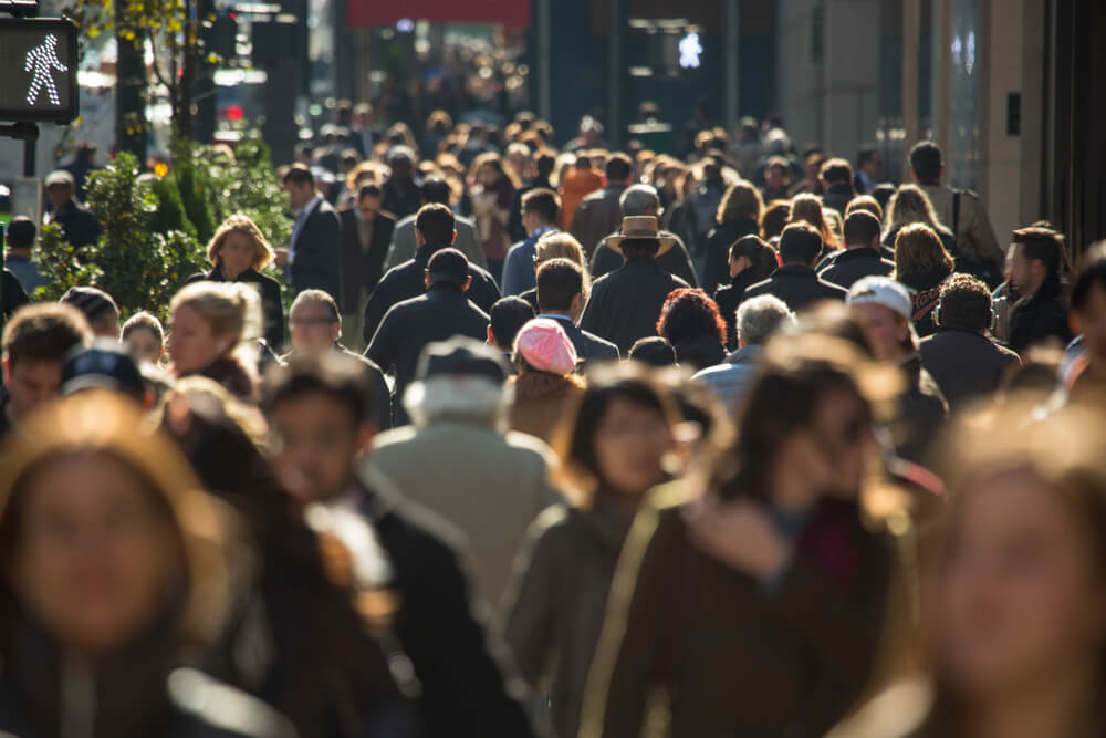 Crowded street represents the noise that business marketing needs to cut through