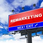 Remarketing Your Business- Red Billboard on Sky Background. Business Concept