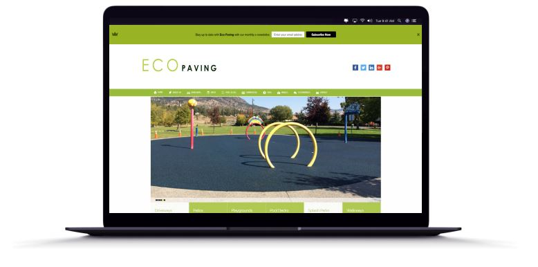 Eco Paving's website on a laptop