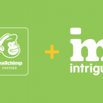 The Mailchimp partner logo and the Intrigue logo