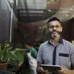 Portrait of Landscaping Small Business Shop Owner