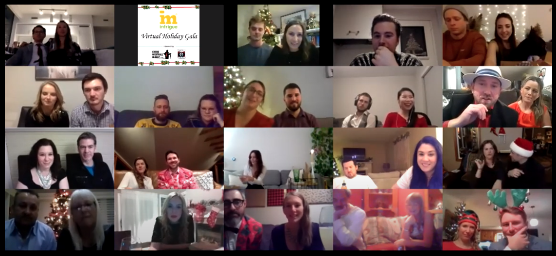 A Zoom call with the Intrigue team